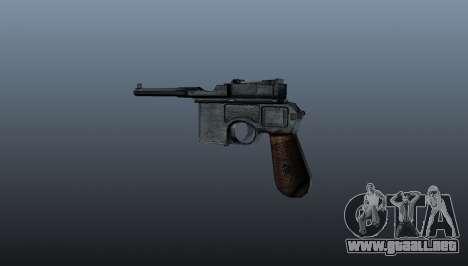 Mauser C96 pistola autocargable para GTA 4 segundos de pantalla