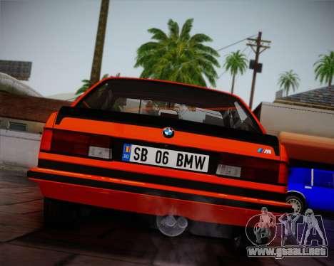 BMW E24 M635 1984 para la vista superior GTA San Andreas