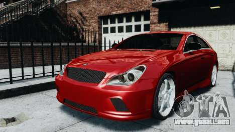 Mercedes-Benz CLS AMG para GTA 4 Vista posterior izquierda