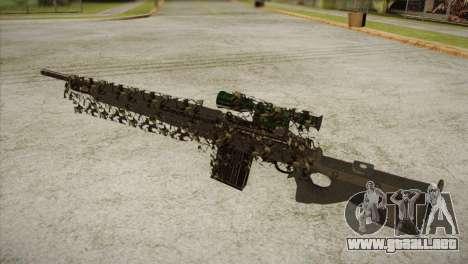 Sniper M-14 With Camouflage Grid para GTA San Andreas segunda pantalla