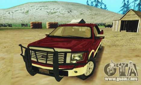 Ford F-150 KING RANCH Edition 2010 para la vista superior GTA San Andreas