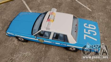 Chevrolet Caprice 1987 NYPD para GTA 4 visión correcta