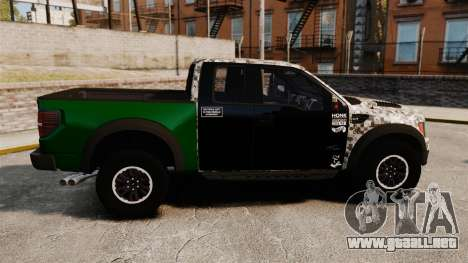 Ford F-150 SVT Raptor 2011 ArmyRat para GTA 4 left