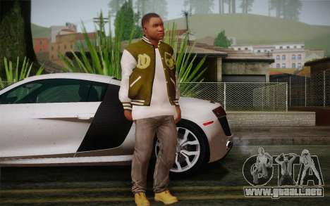 Franklin v. 2 piel para GTA San Andreas tercera pantalla