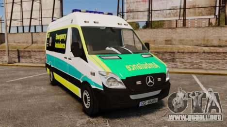 Mercedes-Benz Sprinter Australian Ambulance ELS para GTA 4