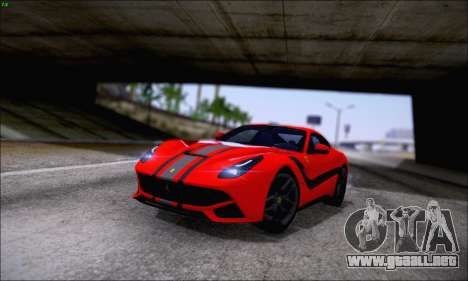 Ferrari F12 Berlinetta Horizon Wheels para vista lateral GTA San Andreas