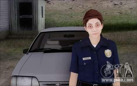 GTA 5 Police Woman para GTA San Andreas segunda pantalla