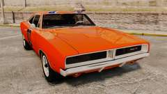 Dodge Charger 1969 General Lee v2.0 HD Vinyl para GTA 4
