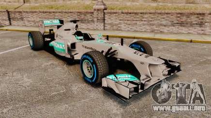 Mercedes AMG F1 W04 v2 para GTA 4