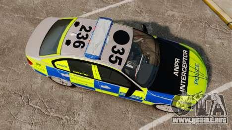 BMW F30 328i Metropolitan Police [ELS] para GTA 4 visión correcta
