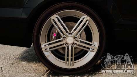 Audi Q7 Unmarked Police [ELS] para GTA 4 vista hacia atrás