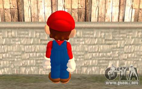 Mario para GTA San Andreas segunda pantalla