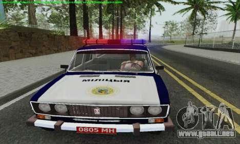 Policía 2106 VAZ para vista lateral GTA San Andreas