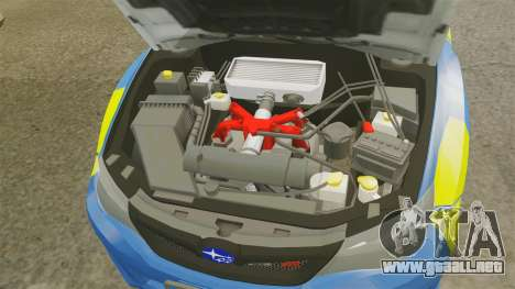 Subaru Impreza WRX STI 2011 Police [ELS] para GTA 4 vista interior