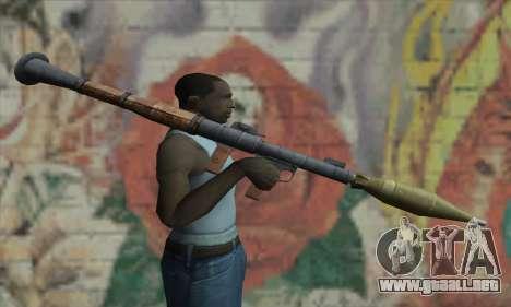 Lanzador de misiles para GTA San Andreas tercera pantalla