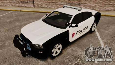 Dodge Charger RT 2012 Police [ELS] para GTA 4 vista superior