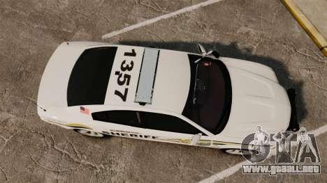 Dodge Charger RT 2012 Police [ELS] para GTA 4 visión correcta