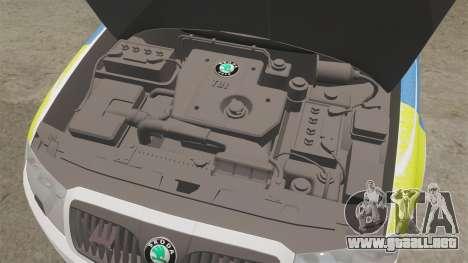 Skoda Superb 2006 Police [ELS] Whelen Edge para GTA 4 vista interior