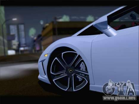 Lamborghini Gallardo 2013 para visión interna GTA San Andreas