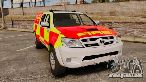 Toyota Hilux British Rapid Fire Cover [ELS] para GTA 4