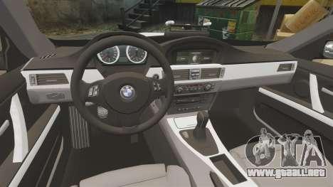 BMW M3 British Police [ELS] para GTA 4 vista interior