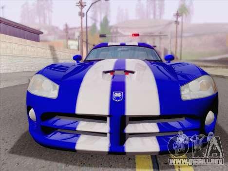 Dodge Viper SRT-10 Coupe para vista inferior GTA San Andreas