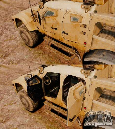 Oshkosh M-ATV para GTA 4 vista interior