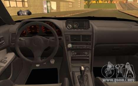 Nissan Skyline R34 Z-Tune para GTA San Andreas vista hacia atrás