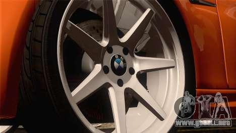BMW M3 E92 2008 Vossen para GTA San Andreas vista hacia atrás