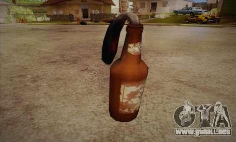 Cóctel Molotov de Left 4 Dead 2 para GTA San Andreas segunda pantalla