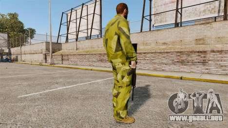 El uniforme de camuflaje sueco para GTA 4 tercera pantalla