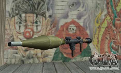 Lanzador de misiles para GTA San Andreas