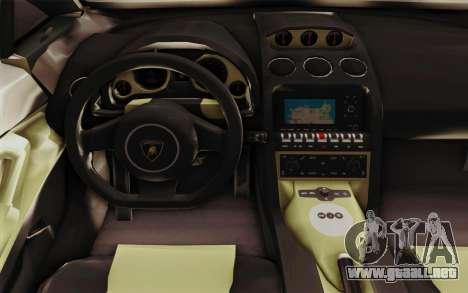 Lamborghini Gallardo SE para la visión correcta GTA San Andreas