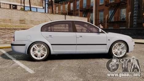 Skoda Superb 2006 Unmarked Police [ELS] para GTA 4 left