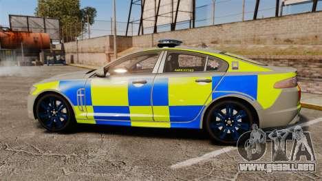 Jaguar XFR 2010 West Midlands Police [ELS] para GTA 4 left