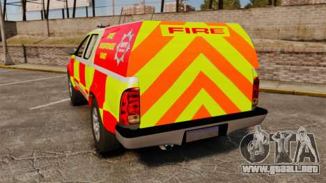 Toyota Hilux British Rapid Fire Cover [ELS] para GTA 4 Vista posterior izquierda