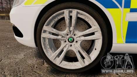 Skoda Octavia Scout RS Metropolitan Police [ELS] para GTA 4 vista hacia atrás