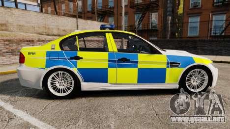 BMW M3 British Police [ELS] para GTA 4 left