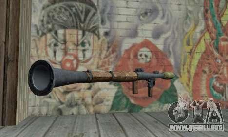 Lanzador de misiles para GTA San Andreas segunda pantalla