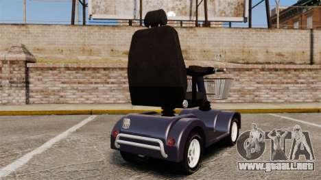 Funny Electro Scooter para GTA 4 Vista posterior izquierda