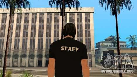 Piel de alta calidad personal para GTA San Andreas segunda pantalla