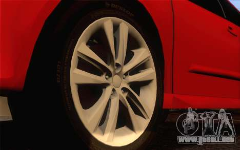 Opel Astra H para GTA San Andreas vista posterior izquierda