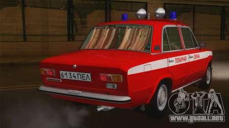 VAZ 21011 proteccion contra el fuego para GTA San Andreas vista posterior izquierda