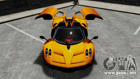 Pagani Huyara [EPM] para GTA 4 ruedas
