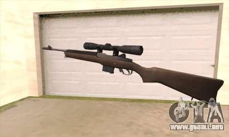 Rifle de francotirador de Left 4 Dead 2 para GTA San Andreas segunda pantalla