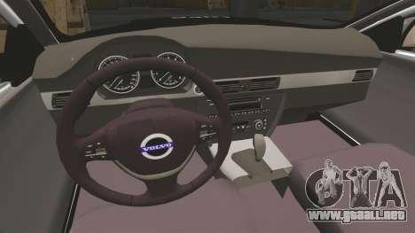 Volvo V70 Metropolitan Police [ELS] para GTA 4 vista interior