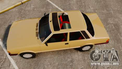 Ford Taunus GLS v2.0 para GTA 4 visión correcta