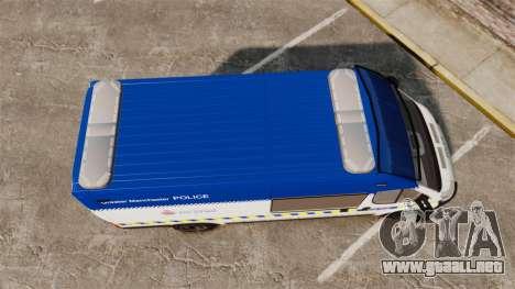 Fiat Ducato Manchester Police [ELS] para GTA 4 visión correcta