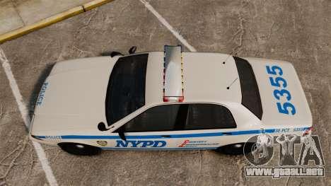 GTA V Vapid Police Cruiser NYPD para GTA 4 visión correcta