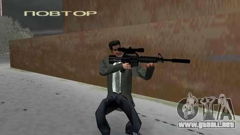 M4 con el arma de francotirador para GTA Vice City segunda pantalla